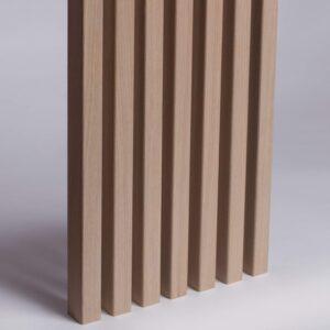 Lamele Ścienne Fornirowane MDF - Dąb Biały - Lamele Drewniane - 3501